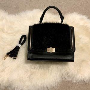 ALDO Black Fur Handbag w/ Shoulder Strap